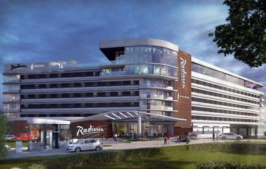 Artist impression showing Radisson Hotel & Convention Centre Johannesburg, O.R. Tambo.