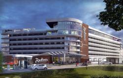 Artist impression showing Radisson Hotel & Convention Centre Johannesburg, O.R. Tambo.
