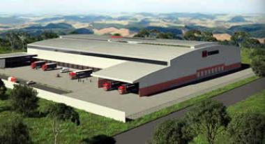 Artist impression of the new R80m industrial warehouse development at Durban's Dube Tradeport- in close proximity to King Shaka International Airport financed through Nedbank Corporate Property Finance.