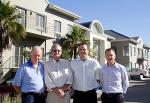 From left to right: Bill Grantham of Grantham Commercial Properties, Bert Hamilton and Vicus Herdst of BASF and Colin Anderson, Director of Rabie Property Group