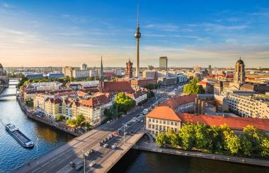 Major player upbeat about European Real Estate prospects despite political uncertainty, Brexit and upcoming national elections. FIle photo of Berlin.