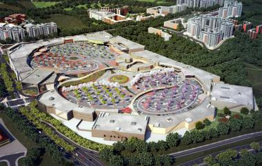 Artist impression of Cornubia Shopping Mall, a new retail development located in the north coastal corridor of Durban.