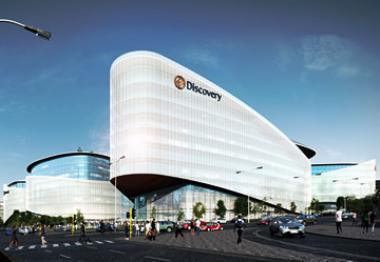 Artist's impression of Discovery global headquarters in Sandton, on the corner of Rivonia Road and Katherine Street, diagonally opposite Sandton City.