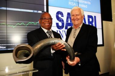 Founded by CEO Francois Marais (right) fourteen years ago, Safari Investments on Wednesday reported a 12% rise in headline earnings per share to 28c for the six months ended September 2014.