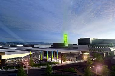 Artist Perspective of Greenacres Shopping Centre when revamped.