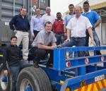 Left to Right: Ian Barnes (Growthpoint); Marius Els (JT Ross); Leon van Rooyen (Growthpoint); Stephen Smith (BPL); Roger McMillan (JT Ross);  Pravin Singh (BPL); Nicholas Winfield (BPL); David Leisegang (BPL);  and Marcus Ellappan (BPL).