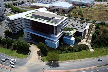 Artist rendering of the R700 million Ingenuity's Santam Head Office in Tygervalley financed by Nedbank Corporate Property Finance.