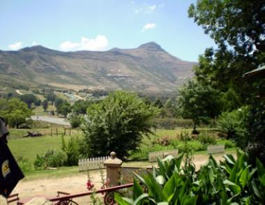 Scenic view from the 4-Star Lake Clarens Guesthouse