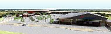 Artist renderings of Mahwelereng Shopping Centre, Limpopo