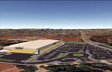 Artist rendering aerial view of Makro Bloemfontein.