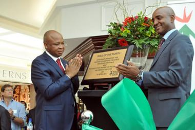 Mall of the North, Polokwane, is declared officially open by Premier of Limpopo Province Cassel Mathale during the new super-regional shopping centre's commemorative ribbon cutting ceremony.