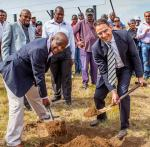 Some of the newest developments inaugurated this year include the 25 000m² shopping centre in Mayfield developed by Investec. Mayor of Ekurhuleni, Mondli Gungubele seen with Darryl Mayers from Investec Property at the first sod turning ceremony.
