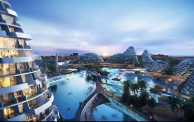 """Artist impressions of the future development of the Modderfontein property in north-eastern Johannesburg. Shanghai Zendai Property says it plans to transform the area into a """"New York of Africa"""" with R80bn investments over the next 15 years,"""