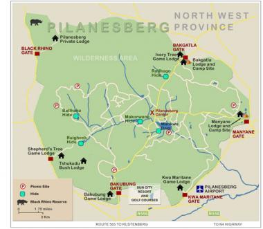 The Pilanesberg Bulk Water Supply Scheme, which will benefit 57 villages in the Moses Kotane and Rustenburg Local Municipalities.