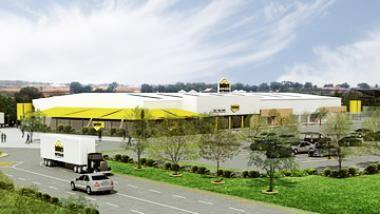 An artist's impression of Secunda Value Centre in Mpumulanga showing Builders Warehouse. The project has been funded by Nedbank Corporate Property Finance at R69.3 million.