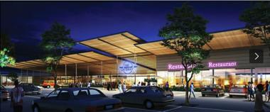 An artist's impression of Malawi's first regional shopping mall