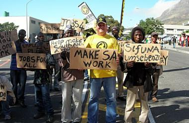 Increased labour strikes and high unemployment levels has caused the IMF to downgrade South Africa's growth forecast.
