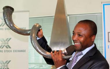 File Photo: Izak Petersen, CEO of Dipula Income Fund announces Dipula Income Fund's listing on the JSE (17 August 2011).