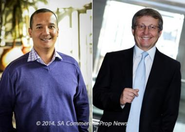 Pareto Limited CEO (Left), Marius Muller said his company had taken property management in-house, but Sam Leon (right) CEO at Investec Property Fund, says his group recently outsourced its property management.
