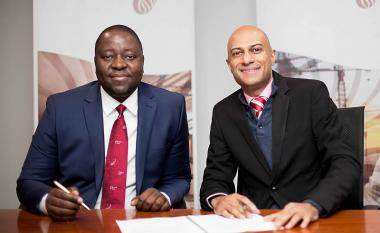 GladAfrica Group Chairman Noel Mashaba seen with Neil Gopal, CEO of South African Property Owners Association (SAPOA).